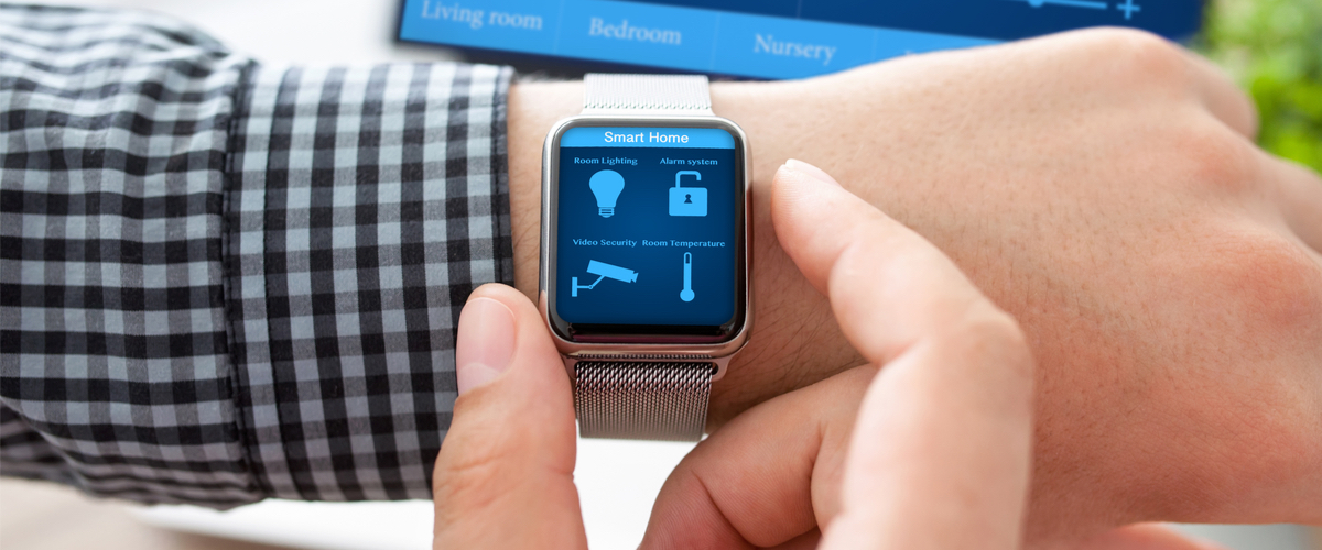 Apple watch interacting with other smart home devices